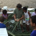 weaving for baskets and shelter