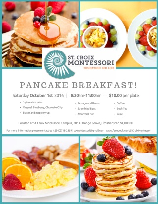 2016 Pancake Breakfast flyer