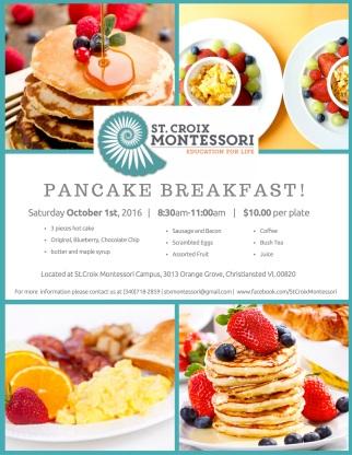 2016 Pancake Breakfast flyer